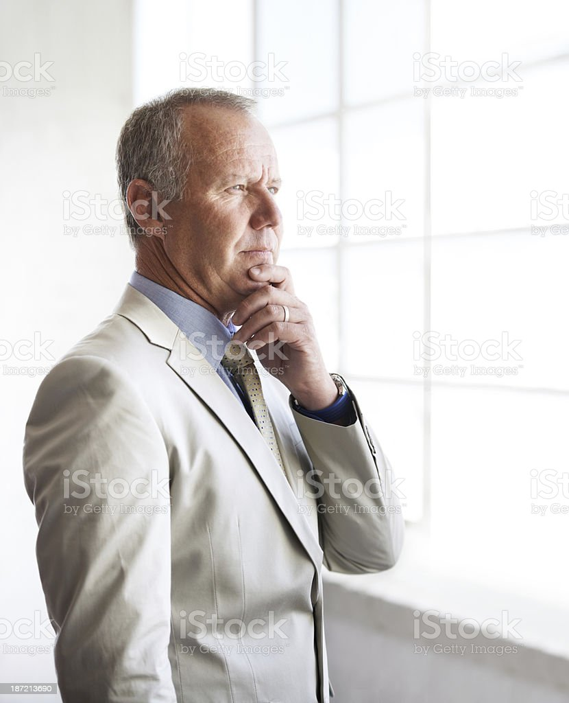 Waiting for inspiration to strike royalty-free stock photo