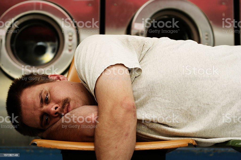 Waiting For Laundry royalty-free stock photo