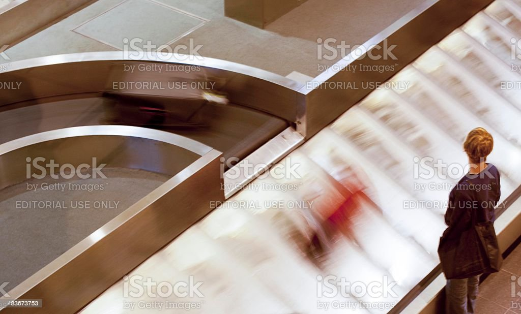 Waiting for luggage royalty-free stock photo