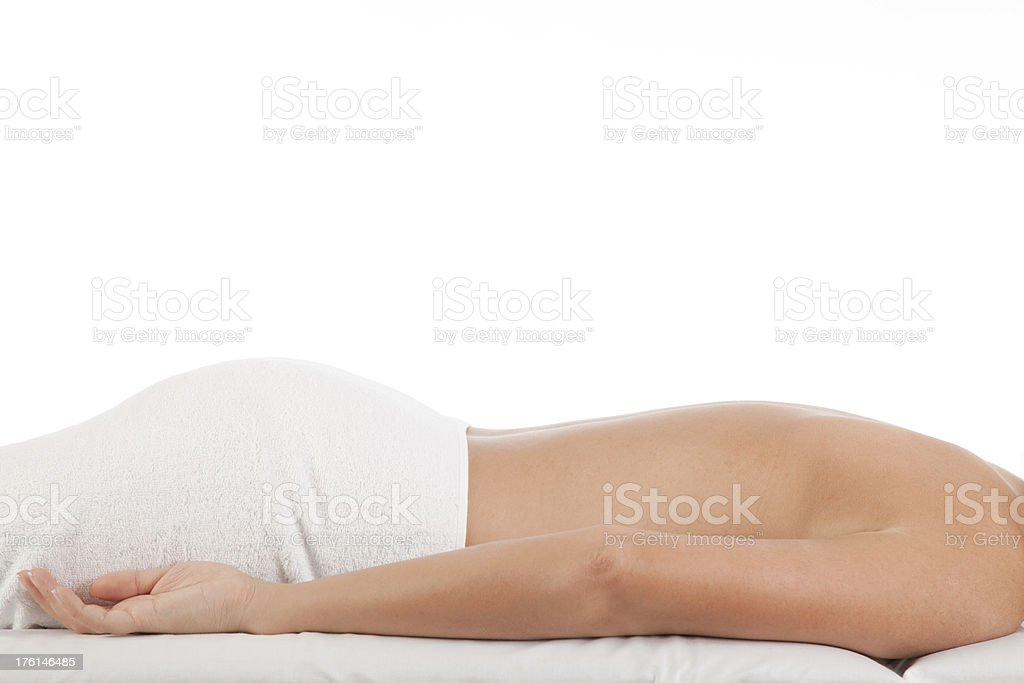 Waiting for massage royalty-free stock photo