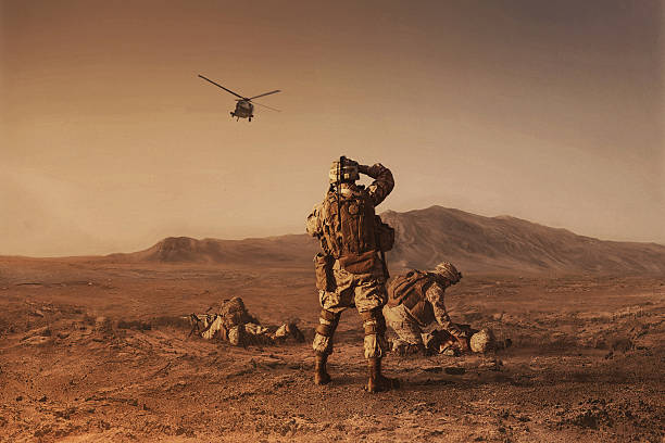 waiting for medevac bird - armed forces stock photos and pictures