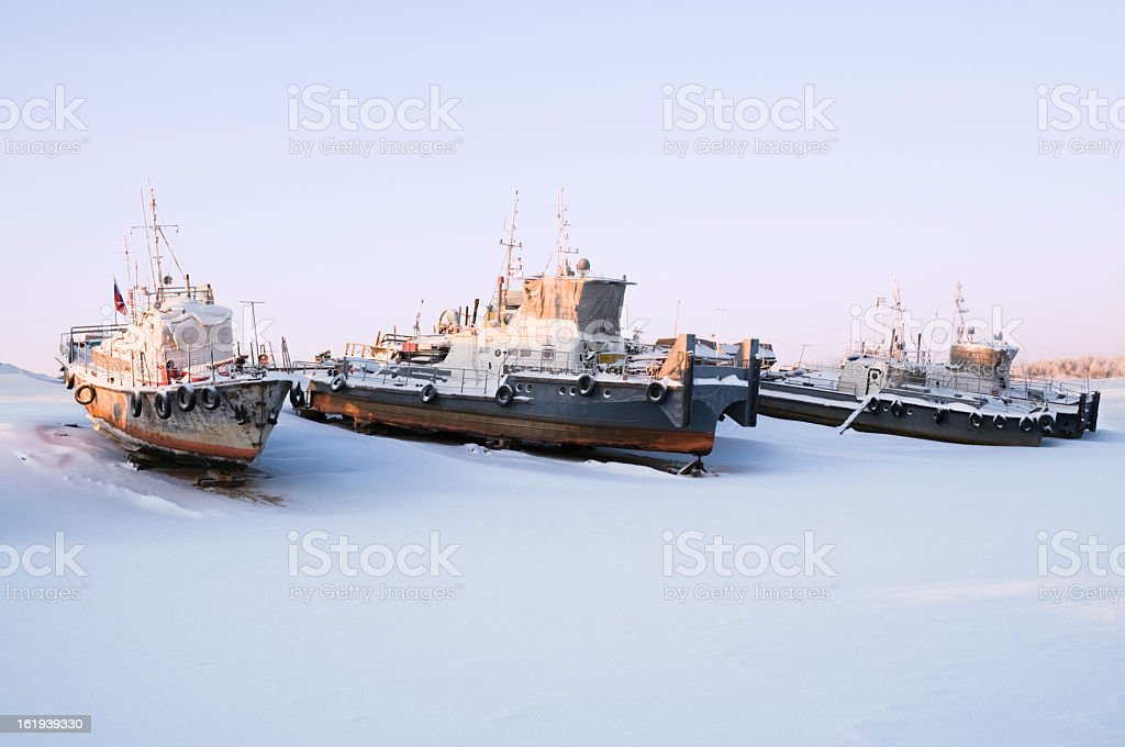Waiting for navigation. stock photo