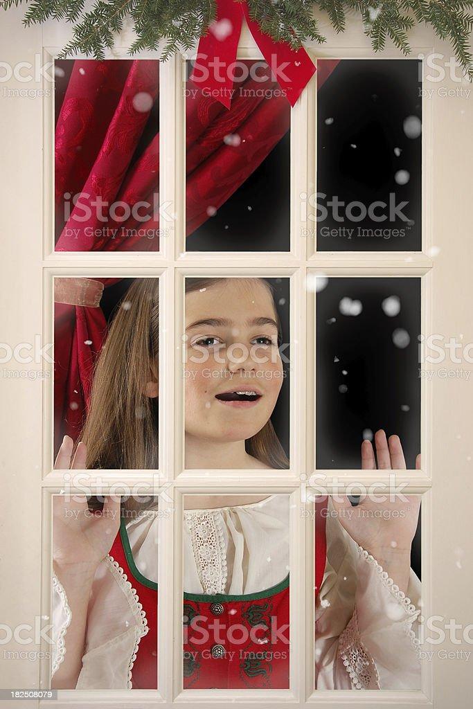 Waiting for Santa royalty-free stock photo