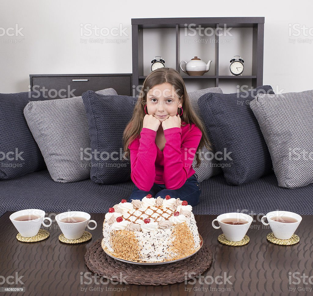 Waiting for tea party. royalty-free stock photo