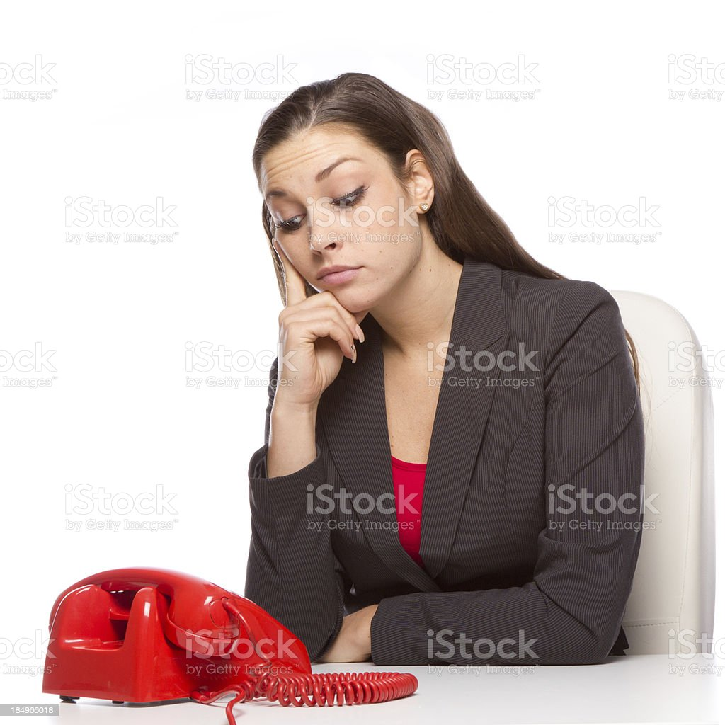 Waiting for that call royalty-free stock photo
