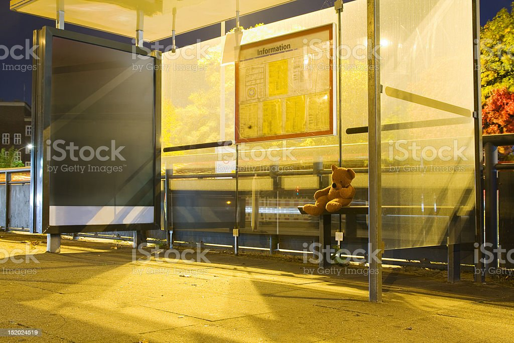 Waiting for the bus royalty-free stock photo