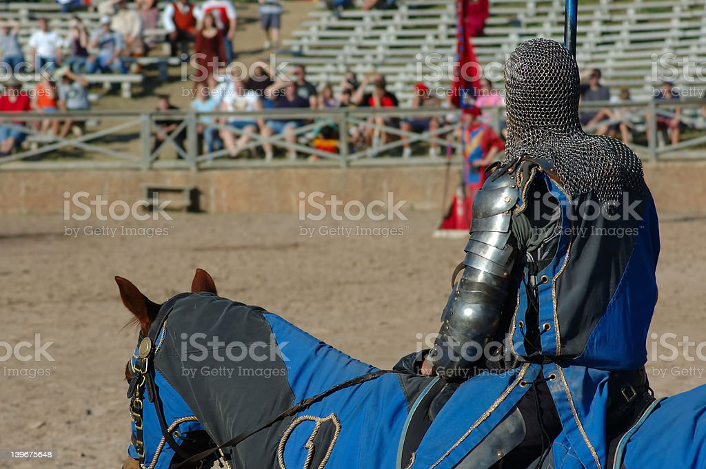 Waiting for the Joust stock photo