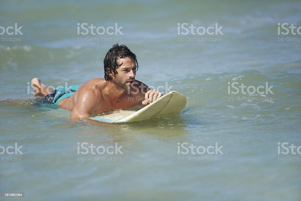 Waiting for the next big wave royalty-free stock photo