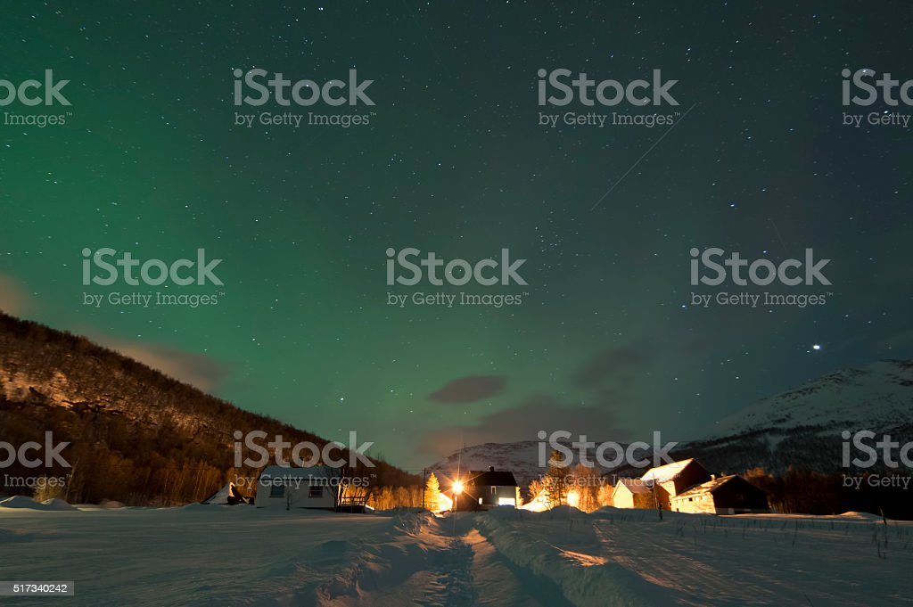 Waiting for The Northern Lights royalty-free stock photo
