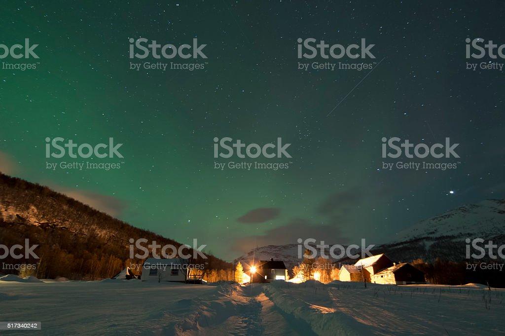 Waiting for The Northern Lights stok fotoğrafı