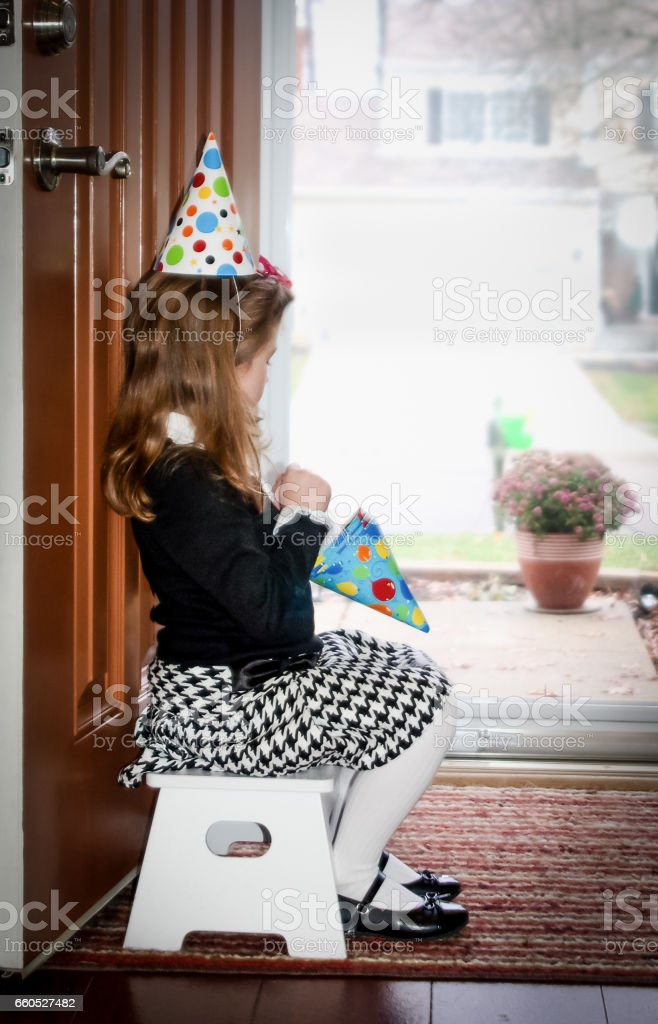 Waiting for the party to start stock photo