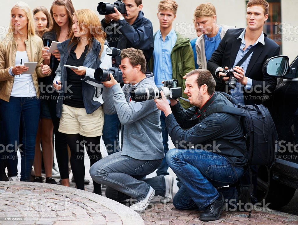 Waiting for the perfect shot stock photo