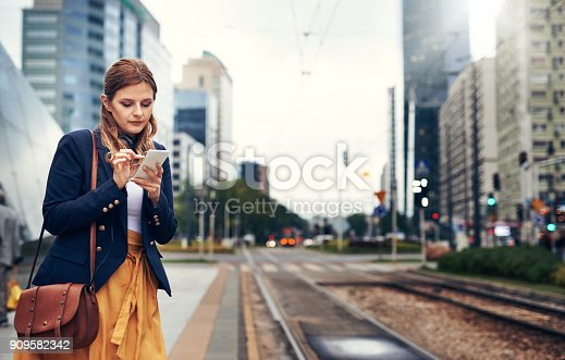 istock Waiting for the public transport to arrive 909582342