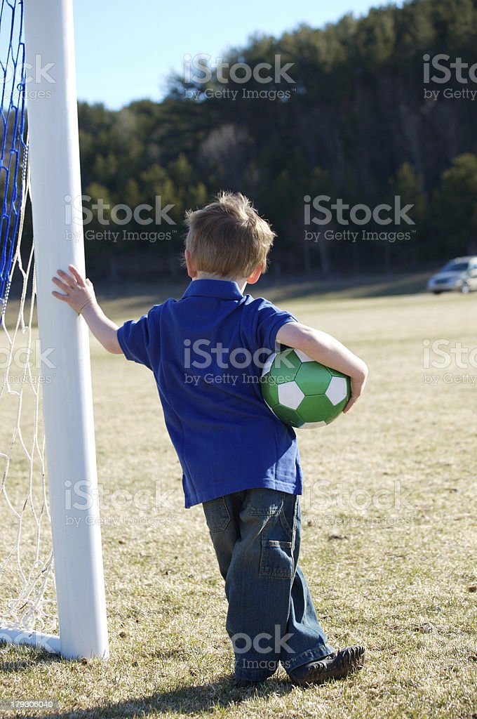 Waiting for the Soccer Team royalty-free stock photo