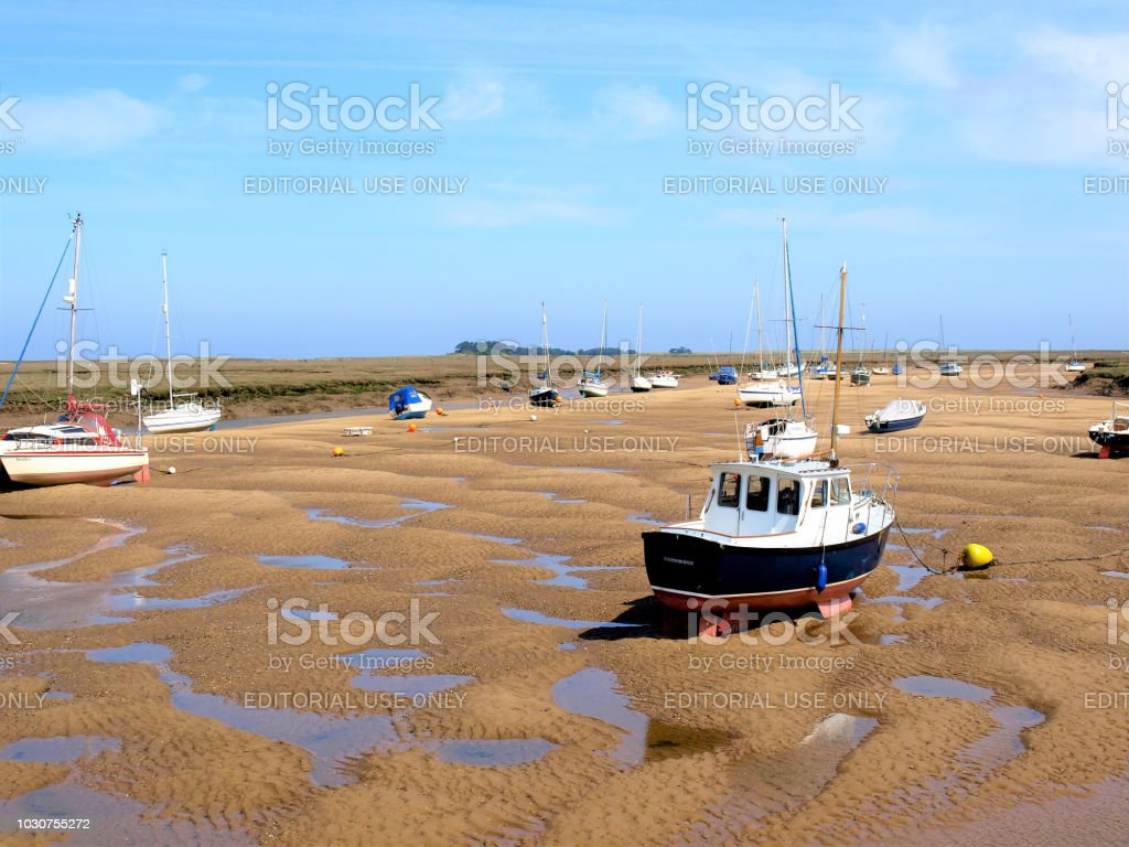 Waiting for the tide. stock photo