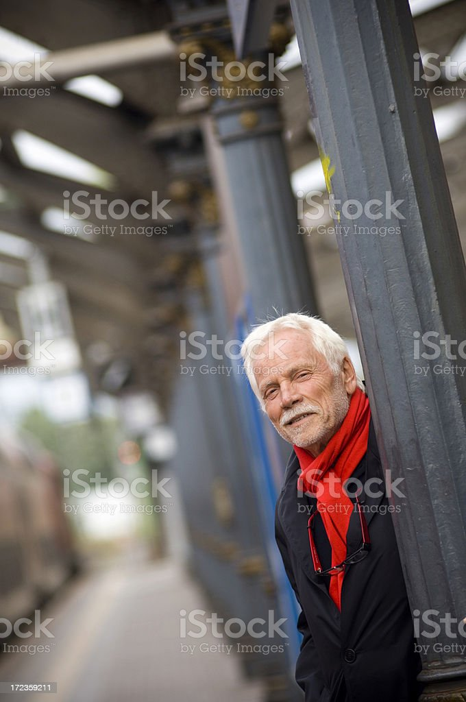 Waiting for the train royalty-free stock photo