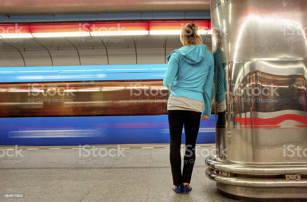 Warten auf den Zug – Foto