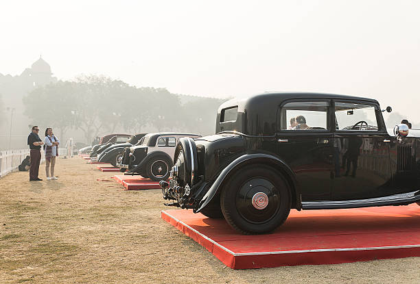 Waiting for the Vintage Show stock photo
