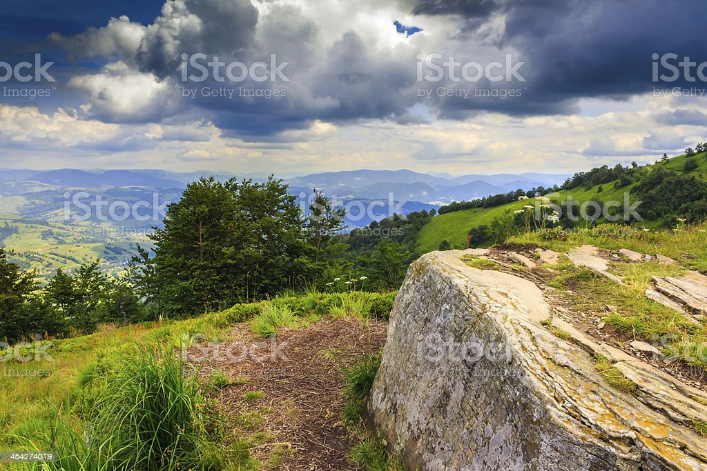 waiting for weather on a peak royalty-free stock photo