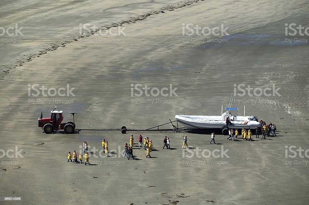 Waiting for Whale Watching passengers royalty-free stock photo