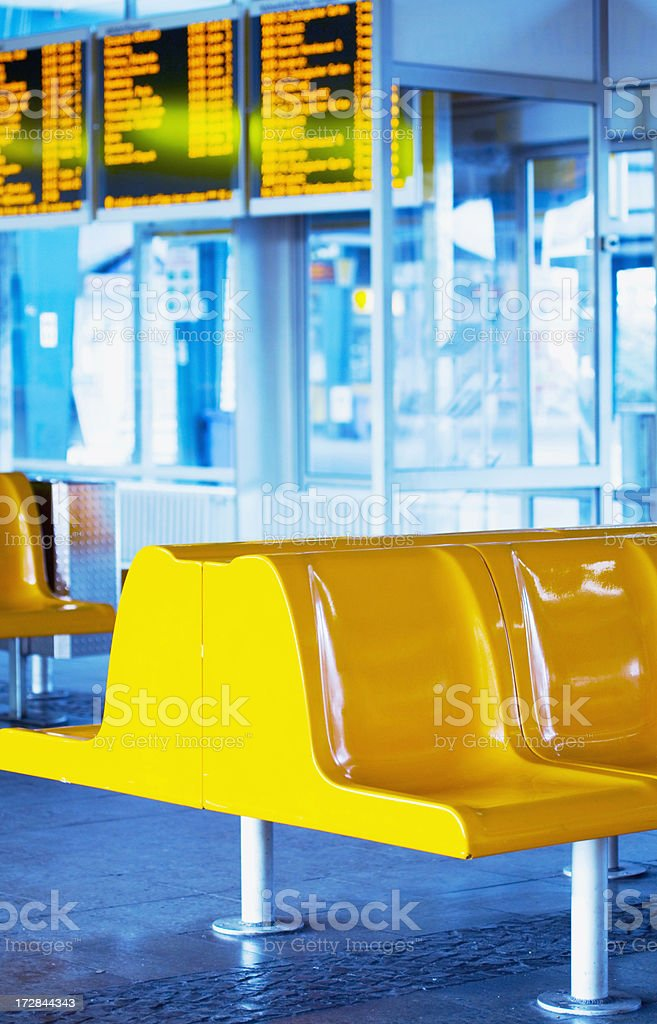waiting hall, central station royalty-free stock photo