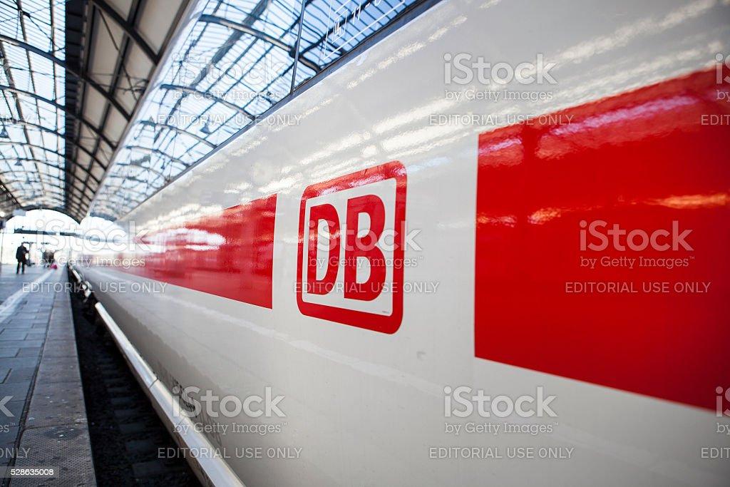 Waiting ICE train stock photo