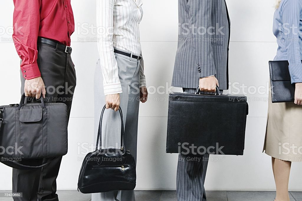 Waiting in a queue royalty-free stock photo