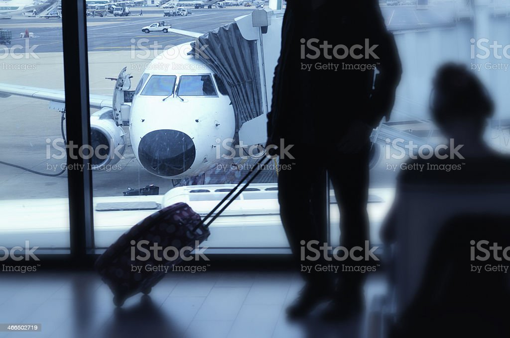Waiting in Airport Lounge royalty-free stock photo