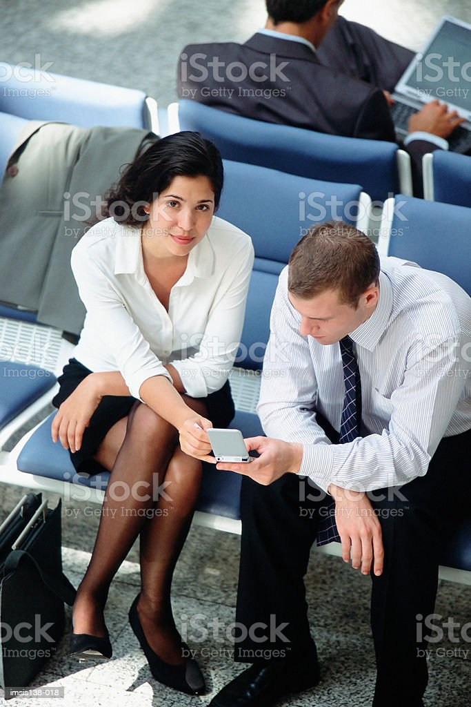 Waiting in departure lounge royalty-free stock photo