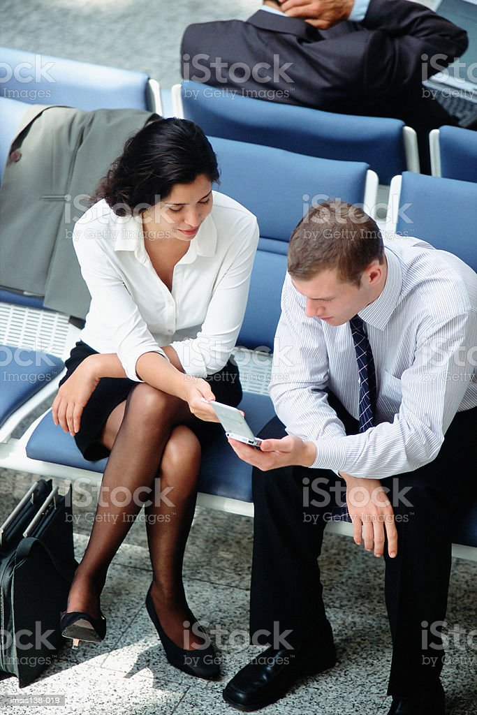 Waiting in departure lounge foto royalty-free