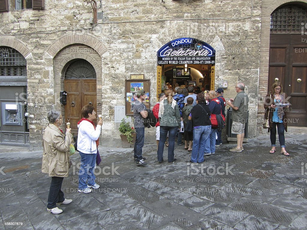Waiting in Line For Dessert royalty-free stock photo