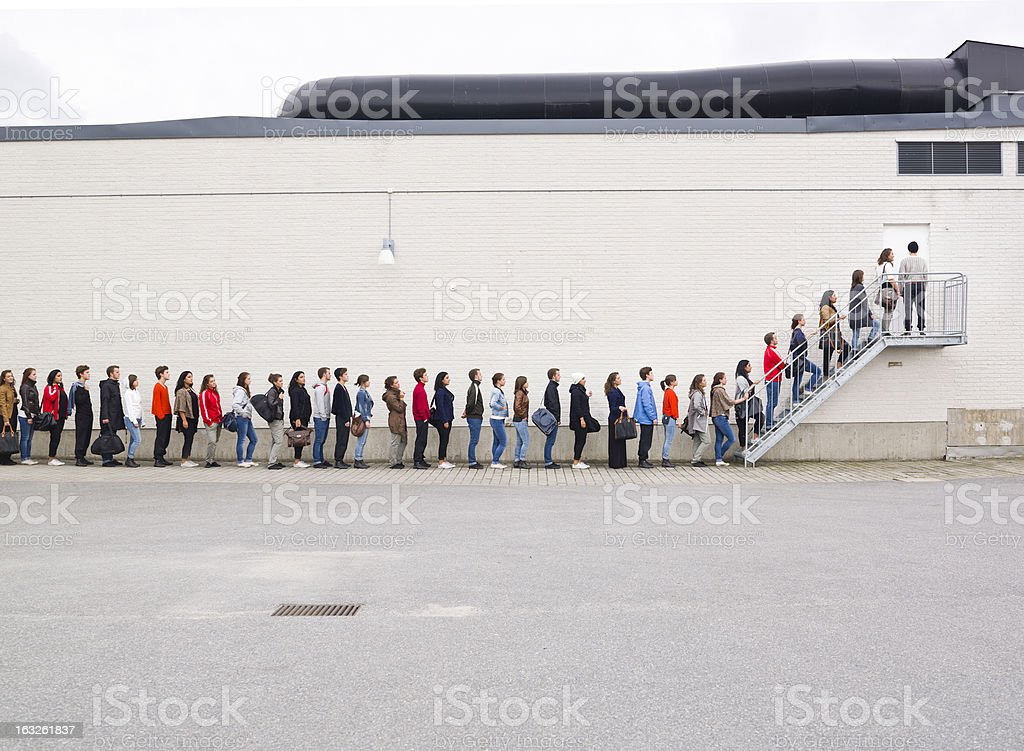 Faire la queue - Photo