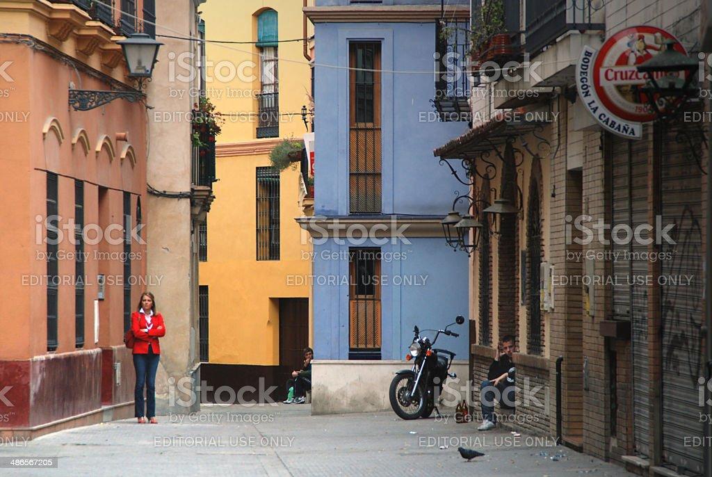 Waiting in Sevilla stock photo