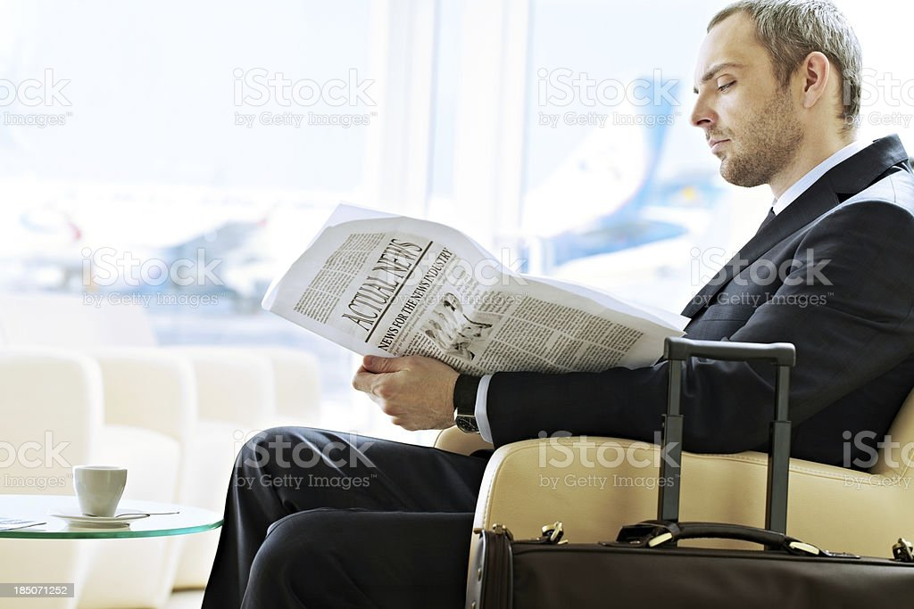 Waiting man royalty-free stock photo