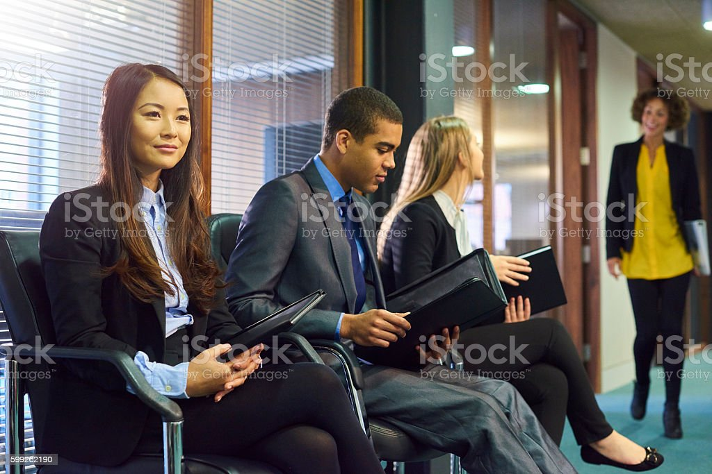 waiting nervously stock photo