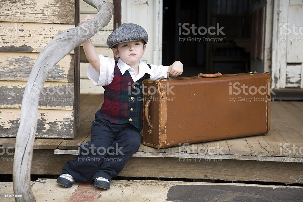 Waiting On The Porch royalty-free stock photo