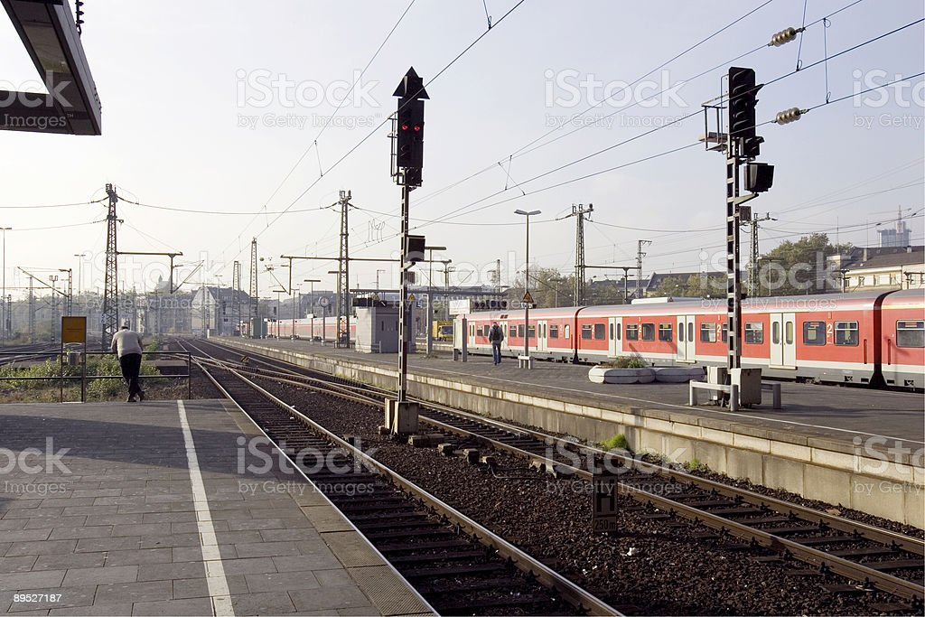 Waiting on the Train royalty-free stock photo