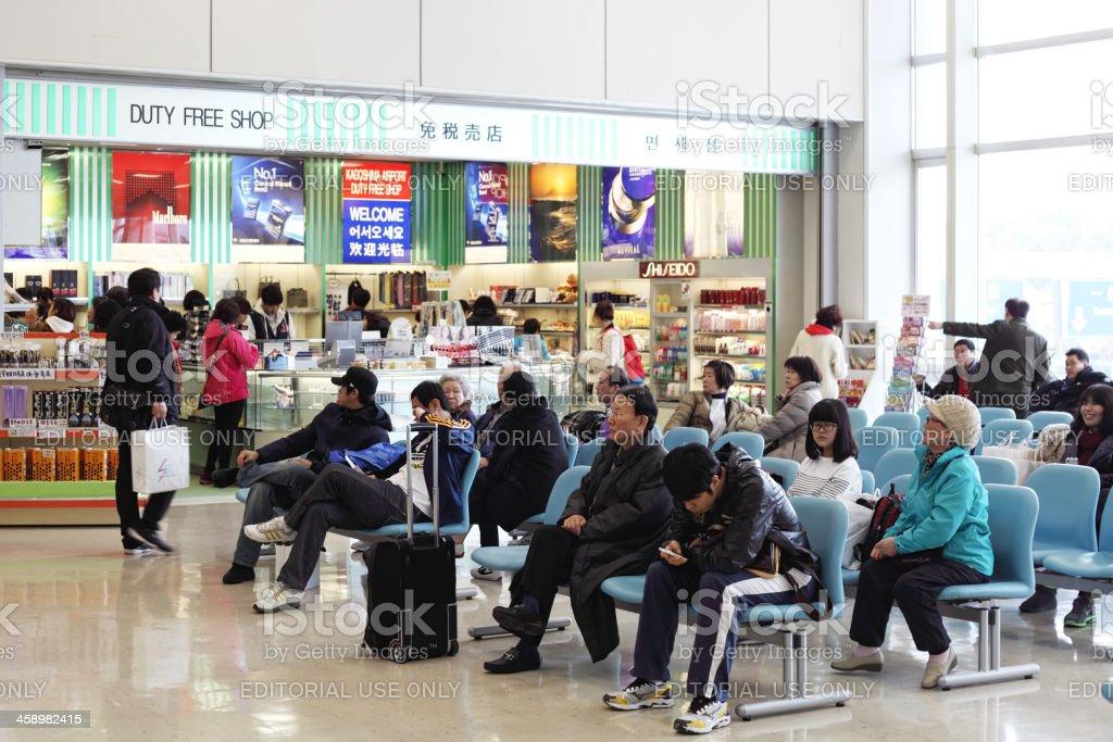 Waiting room and Duty Free shop at Kagoshima airport royalty-free stock photo