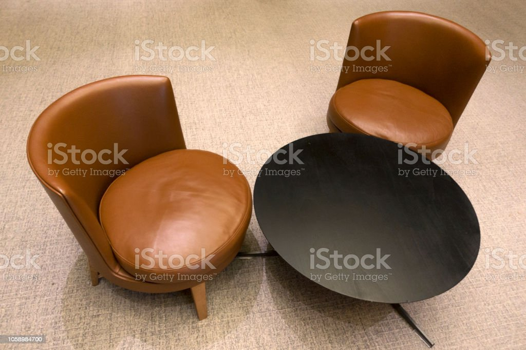 Groovy Waiting Room Area Interior With Leather Chairs And Coffee Table Stock Photo Download Image Now Gmtry Best Dining Table And Chair Ideas Images Gmtryco