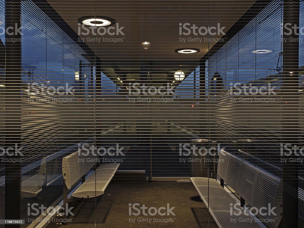 Waiting room at 21.30 royalty-free stock photo