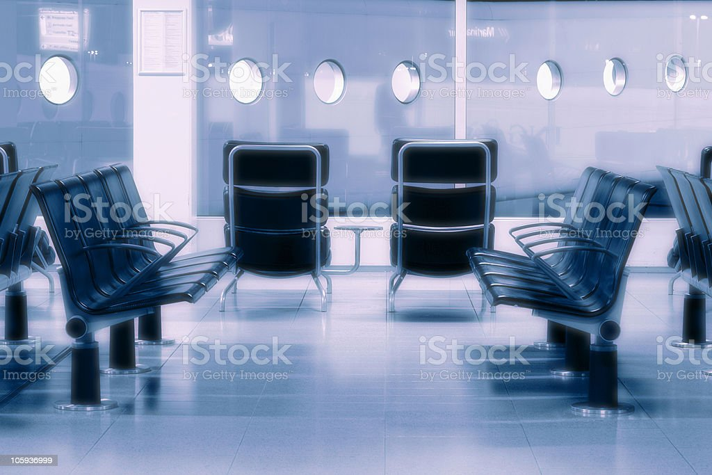 waiting room at the airport royalty-free stock photo