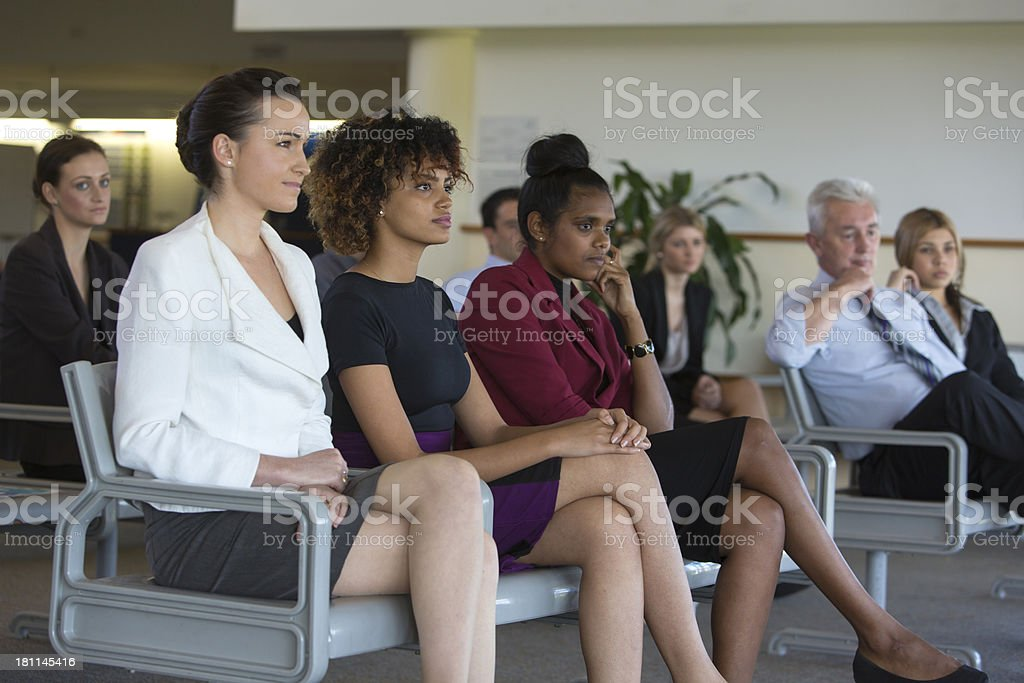 Waiting Room Businesspeople royalty-free stock photo
