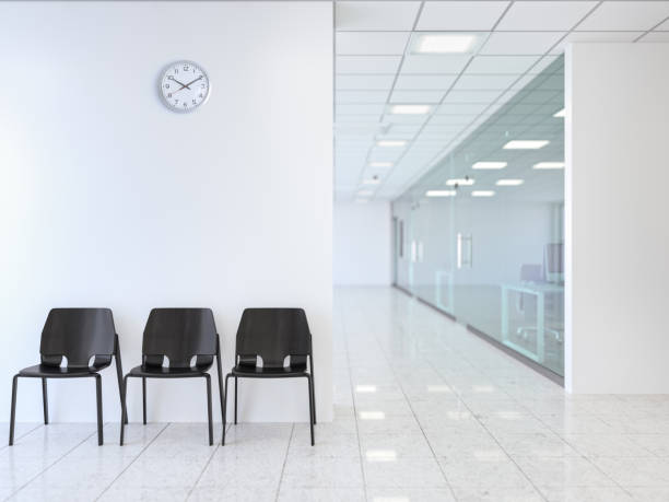 Waiting room in modern office stock photo
