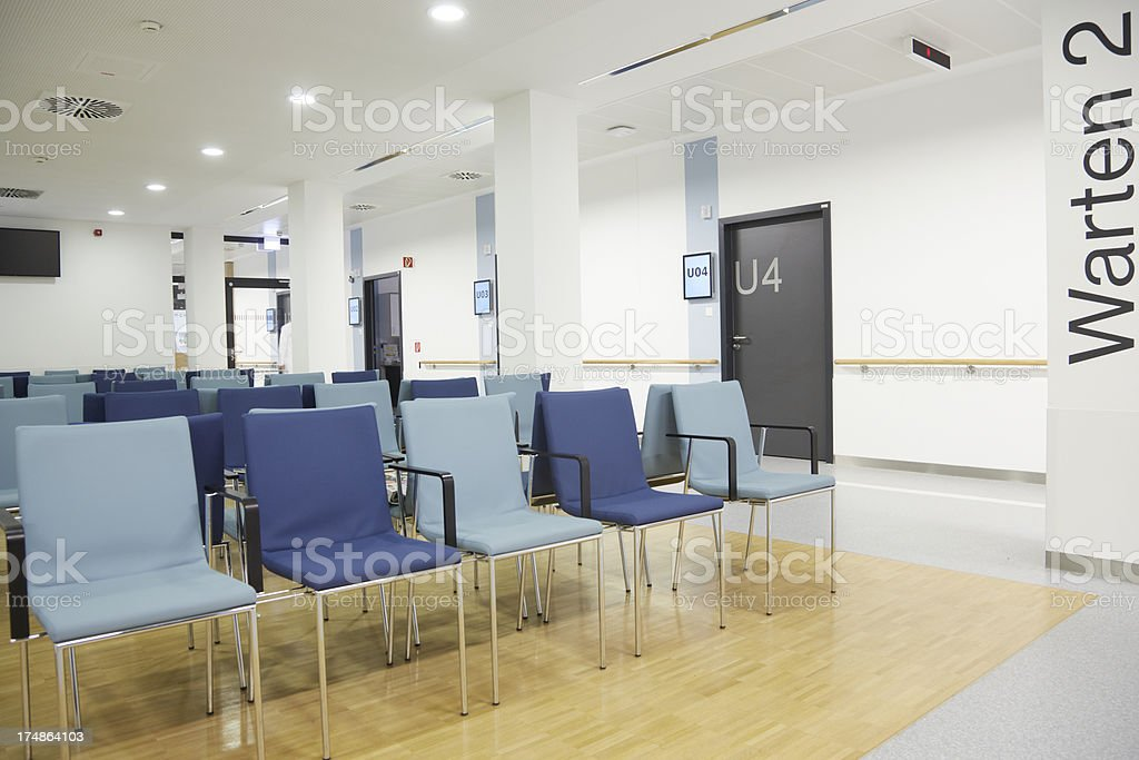 Empty waiting room in a german hospital.