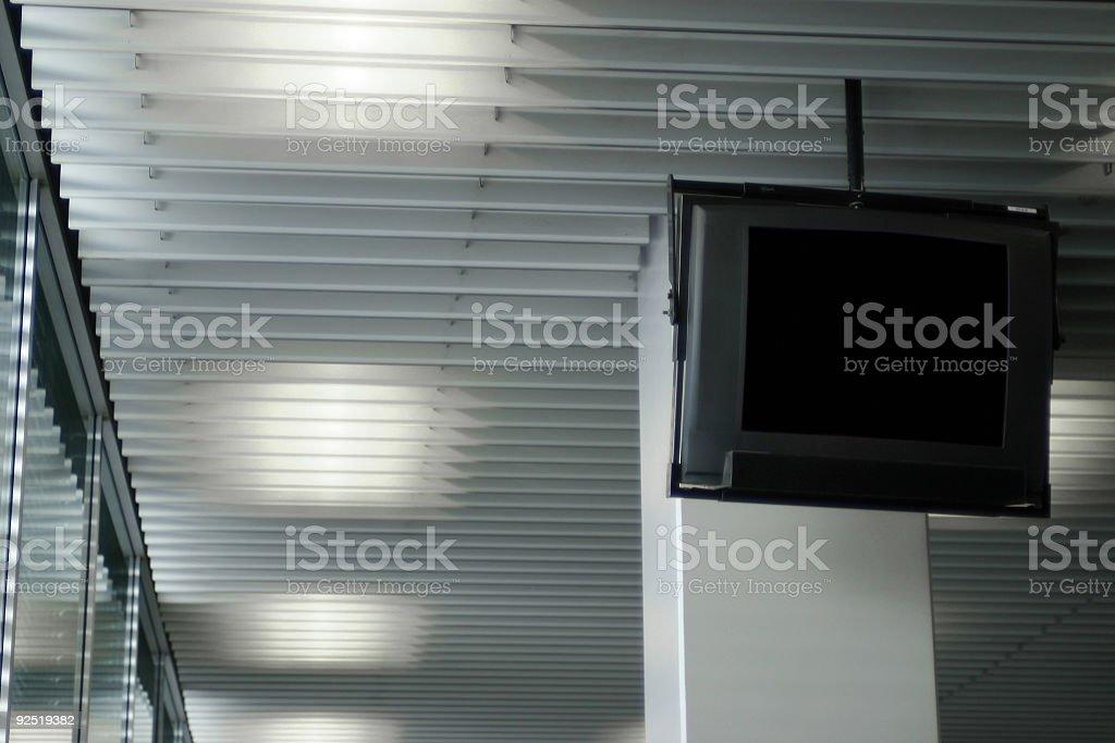 Waiting room TV royalty-free stock photo