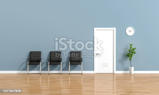 Waiting room with a chair