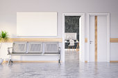 Waiting Room with Empty Frame