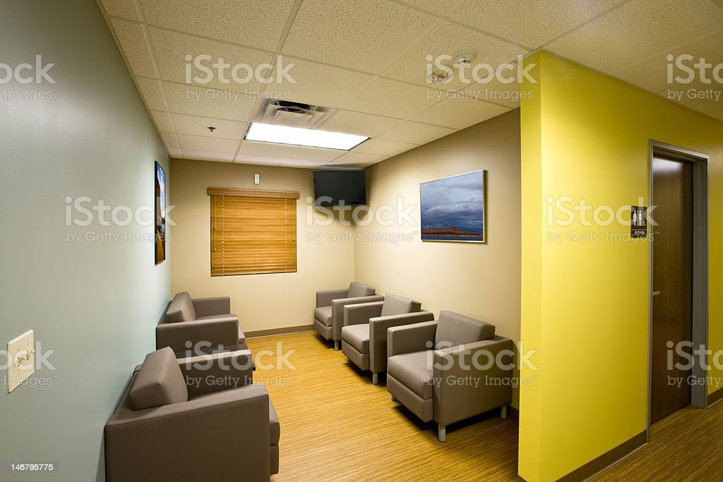 Waiting Room with Restroom stock photo