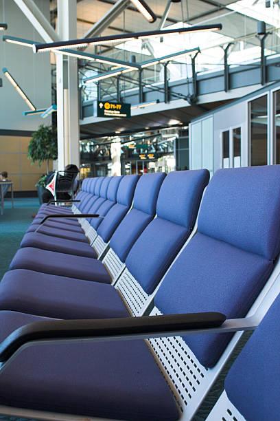 waiting room-airport stock photo