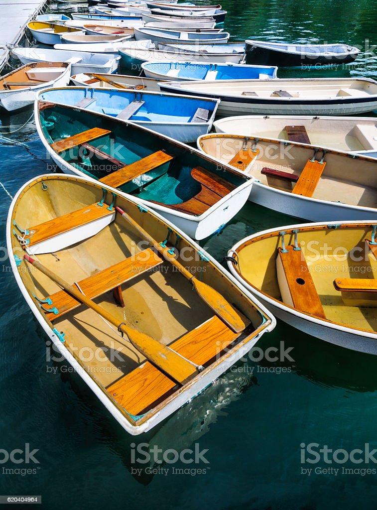 Waiting Rowboats stock photo